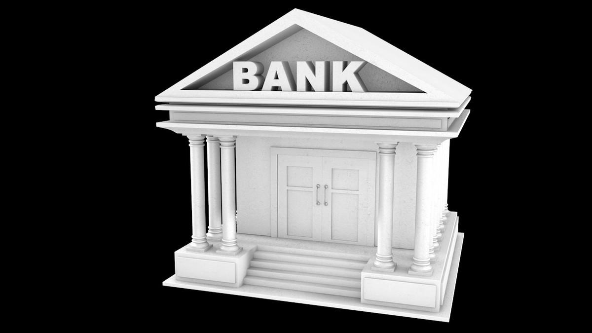 bank symbol 3d model