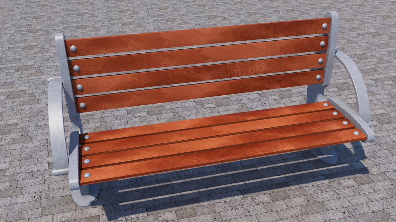 street bench orthopedic 3d 3ds