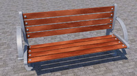 street bench orthopedic 3d 3ds