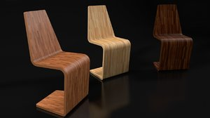 wooden chair 3d c4d
