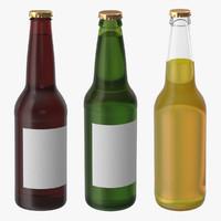 3 beer bottles c4d