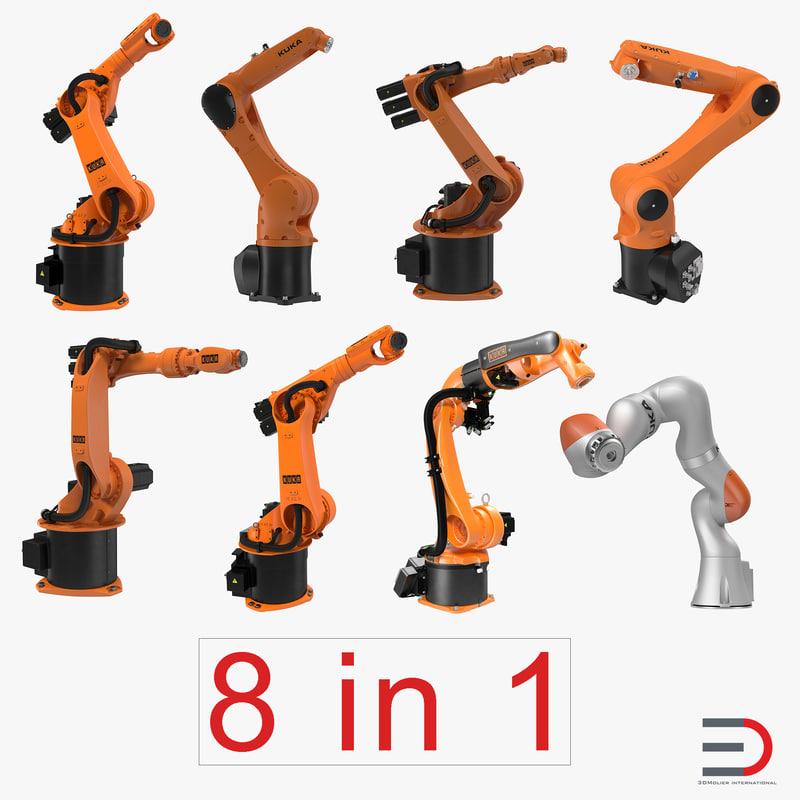 kuka robots rigged 3 max