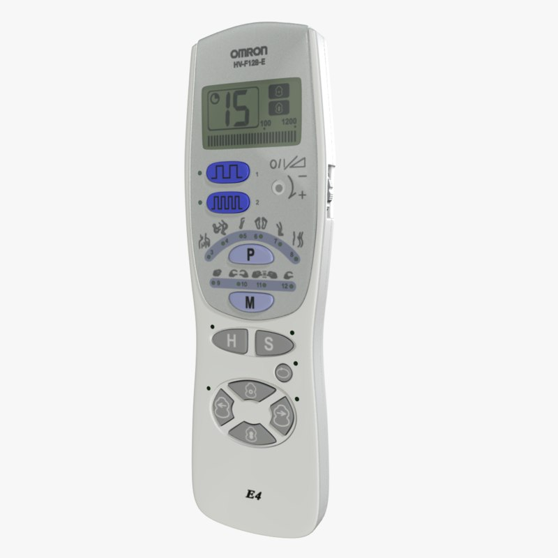 omron e4 nerve stimulator 3d model