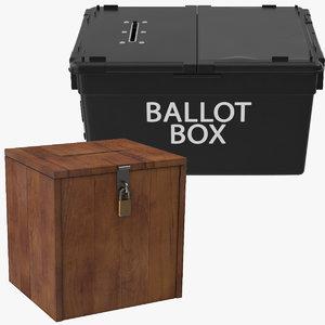 3d voting ballot boxes