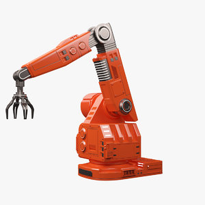 3d max futuristic robotic arm