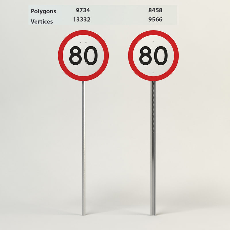 speed limit-80 obj