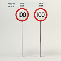 3d model speed limit-100