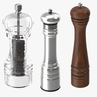 Three Pepper Grinders