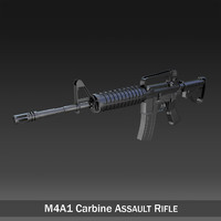 colt m4a1 carbine assault rifle c4d