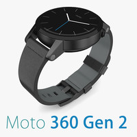 Motorola Moto 360 2nd Gen Black Leather Band