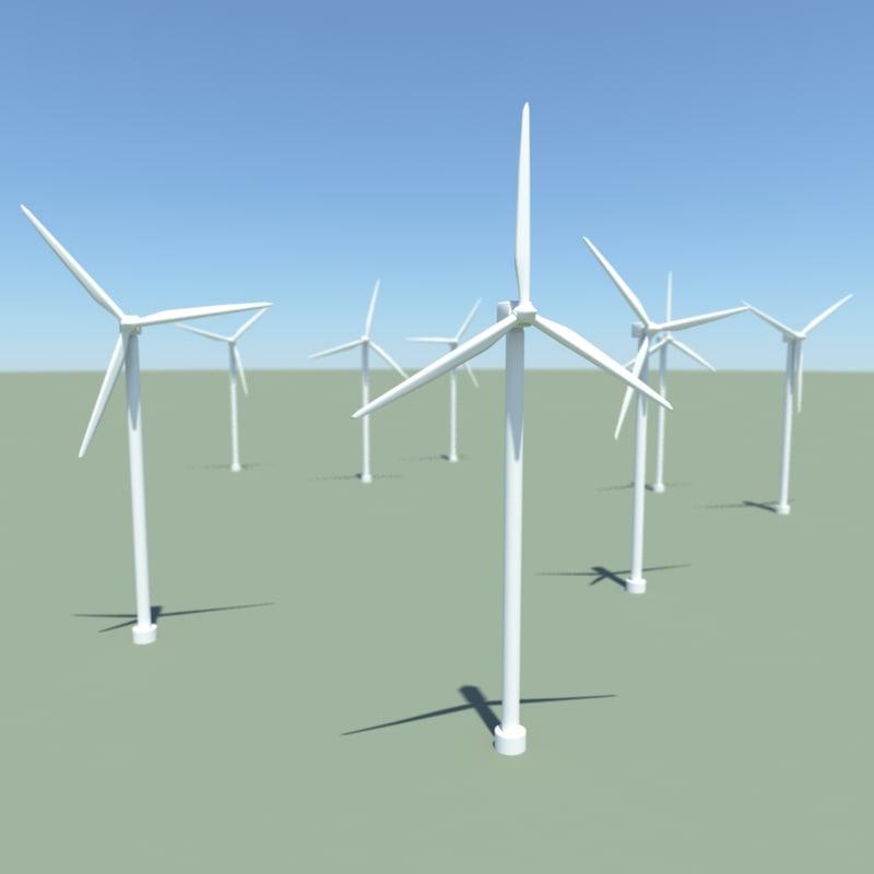 obj wind turbines