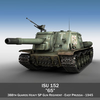 ISU-152 - 65 - Soviet heavy self-propelled gun