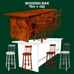 bar stools fbx