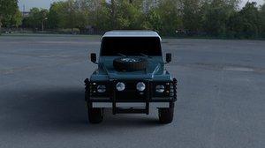 land rover defender 90 3d model