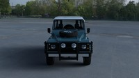 Land Rover Defender 90 Station Wagon w interior HDRI