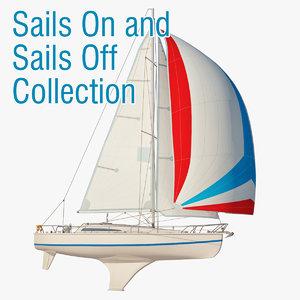 princess ii sailboat sail 3d model