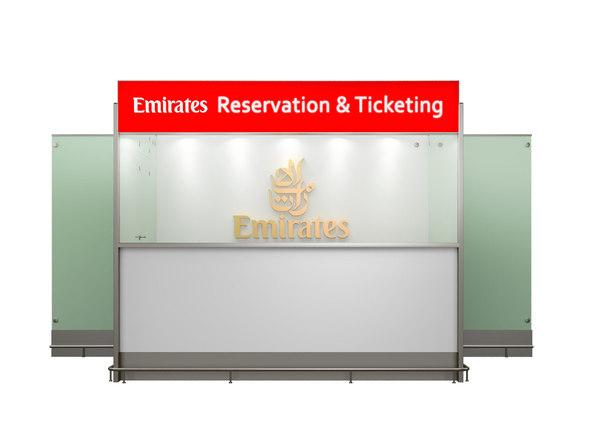 emirates airlines 3d max