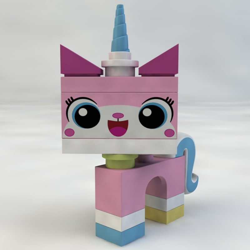 3d model unikitty lego
