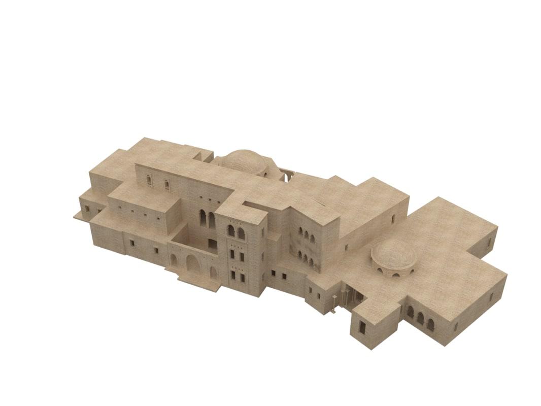 arabian villa 3d fbx