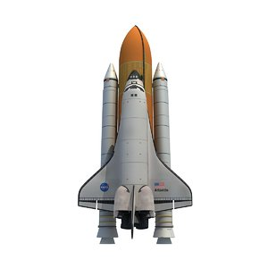 3d model nasa space shuttle atlantis