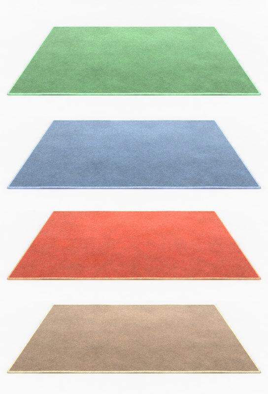 carpet ecru 3d model