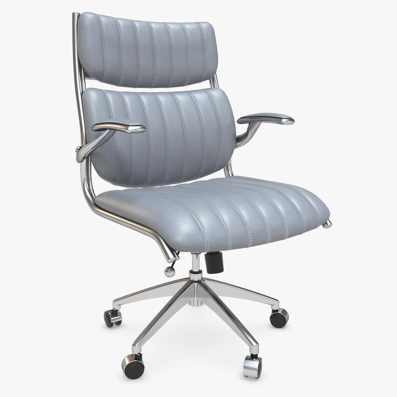 3d modway escape office chair model