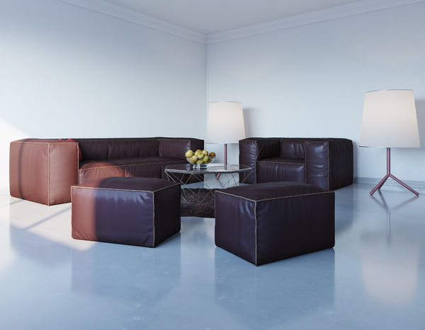 3d model of interior corona render