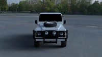 land rover defender 90 obj