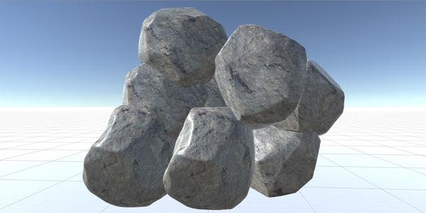 nature rock 3d max