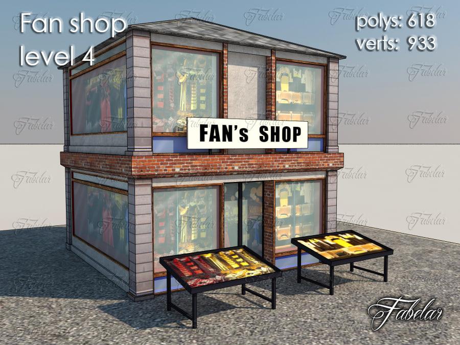 max fan shop level 4