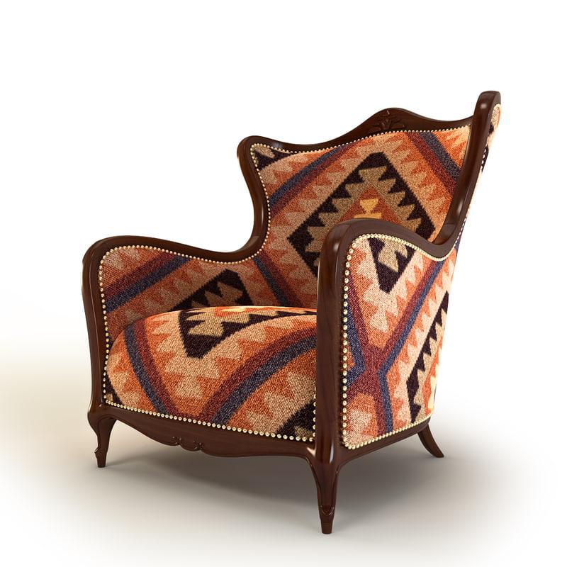 3d model armchair kilim