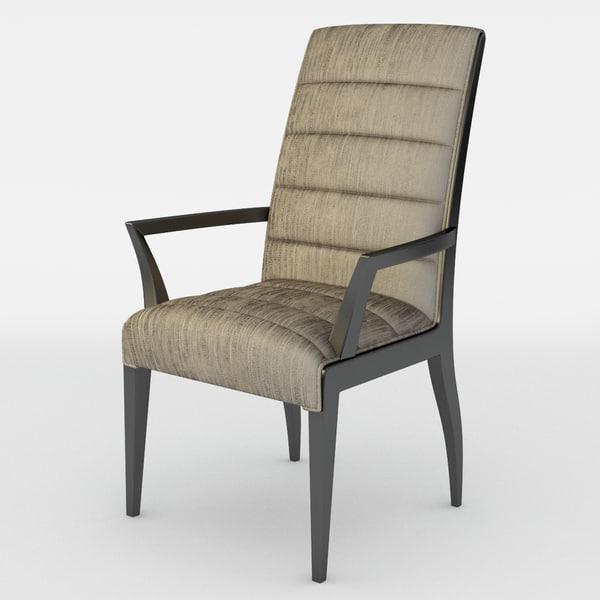 3d model chair donghia fiona