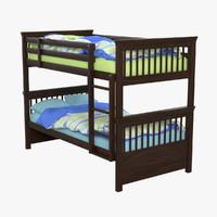 bunk bed 3d max