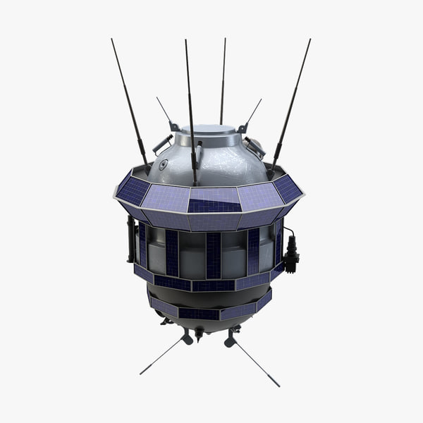 3d luna 3 spacecraft model