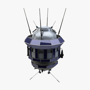 3d luna 3 spacecraft model