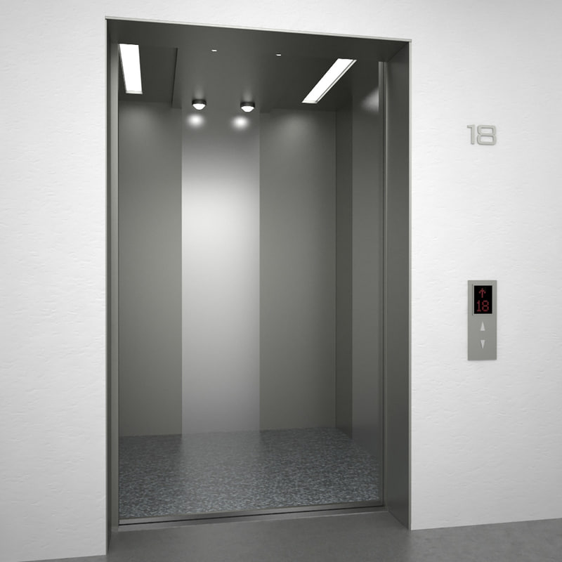 Elevator Otis Doors 3d Model