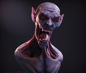 3d model monster bust