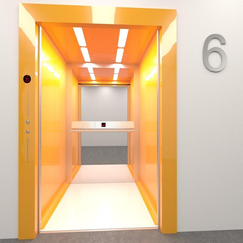 3d elevator otis doors model