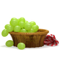 3d model of rattan green grapes