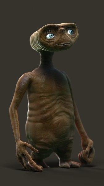 3d alien animate model