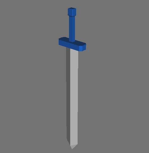 3d basic sword weapon model