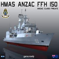 HMAS Anzac FFH 150 Anzac Class Frigate
