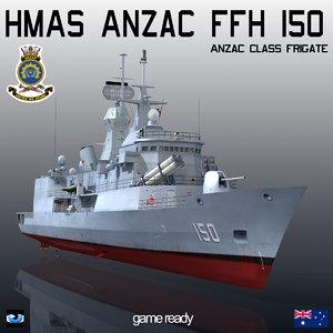 anzac class frigate hmas 3ds