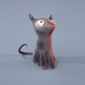 3d model modelled fur