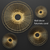 wall decor futuristic coral 3d model
