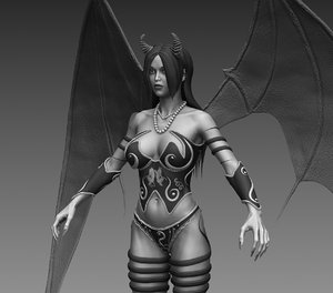 3d female fantasy creature