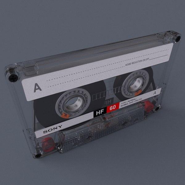 c4d res casette box tape