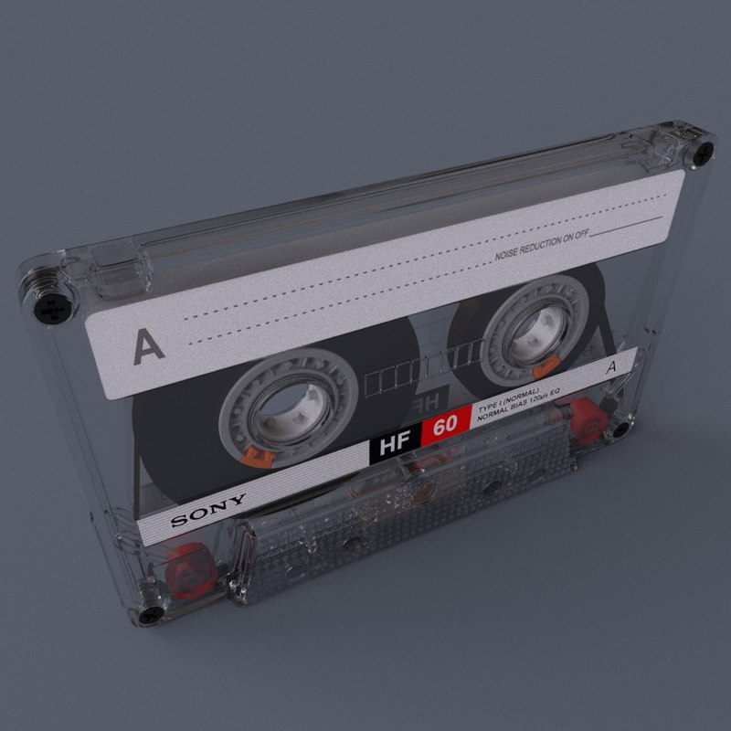 c4d res casette box tape