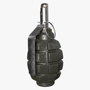 grenade f1 3d max