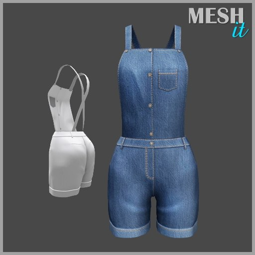 3d model jumpsuit denim